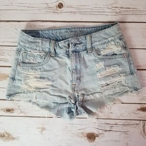 American Eagle distressed short size 0